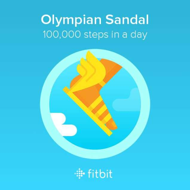 Image of FitBit 100,000 step sandal