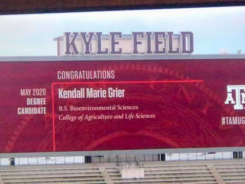 Graduation Name - Kendall